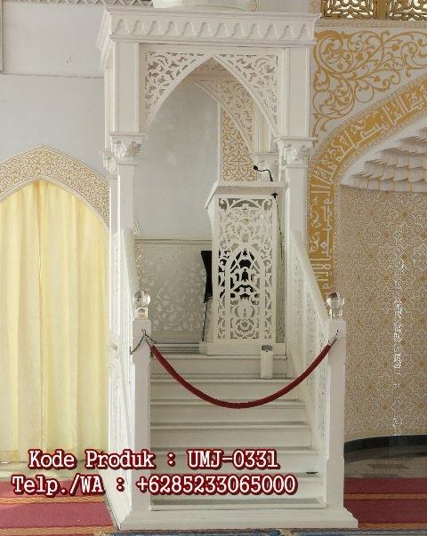 Motif Mimbar Kayu Podium Minimalis Masjid Di Bandung