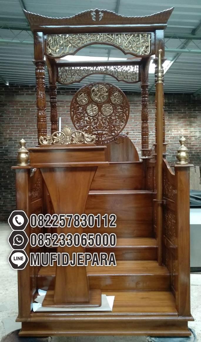 Model Mimbar Kayu Podium Minimalis Masjid Sederhana