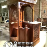 Mimbar Masjid Minimalis Jati Perhutani
