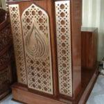 Mimbar Podium Jati Minimalis Arabic Jepara Di Kupang