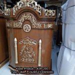 Podium Jati Mimbar Khutbah Masjid Tarogong Kidul