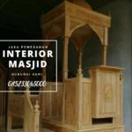 Podium Jati Ukiran Arabic Masjid Sumenep