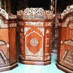 Podium Jati Minimalis Arabic Masjid Pemalang