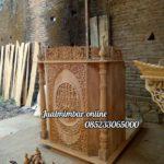 Podium Jati Minimalis Arabic Masjid Kebumen