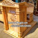 Podium Jati Klasik Minimalis Masjid Cirebon