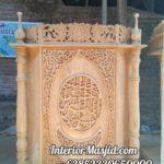 Podium Kayu Minimalis Arabic Masjid Pandeglang