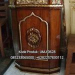 Podium Khutbah Kaligrafi Arabic Masjid Surakarta