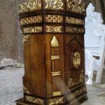 Podium Jati Kaligrafi Arabic Masjid Pasuruan