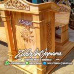 Podium Khutbah Ukiran Arabic Masjid Singaparna