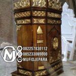 Podium Ukir Ukuran Sederhana Masjid Subang