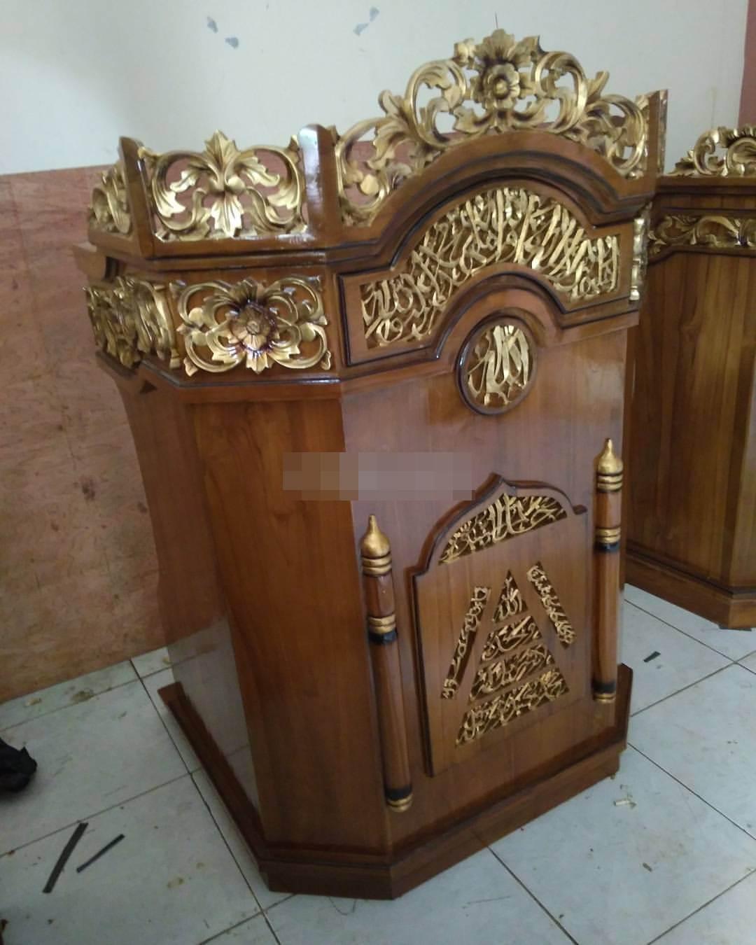 Model Podium Minimalis Modern Masjid Kuningan Jual Mimbar