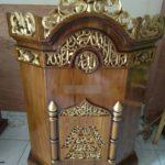 Model Podium Ukiran Kaligrafi Masjid Semarang