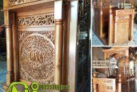 Mimbar Jepara Ornamen Ukiran Masjid Kota Pasaman Barat
