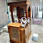 Mimbar Kayu Ornamen Ukiran Masjid Kota Palu