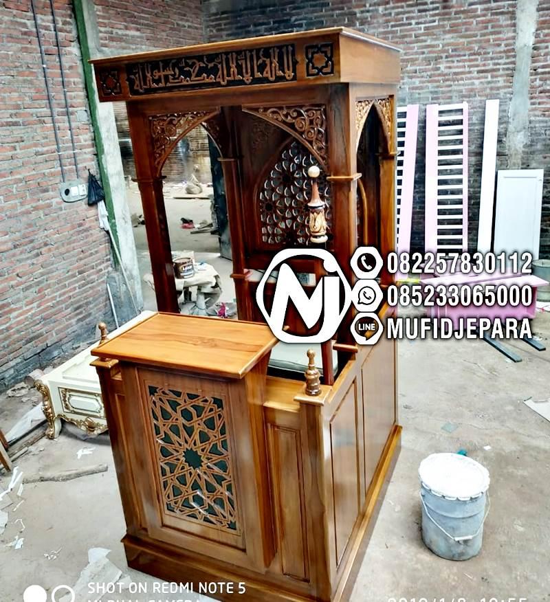 Podium Mimbar Ornamen Marocco Masjid Daerah Lombok Tengah