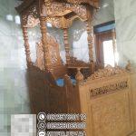 Mimbar Kayu Ornamen GRC Masjid Besar Pemangkat