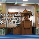 Mimbar Jepara Ornamen Arabic Masjid Daerah Polewali Mandar