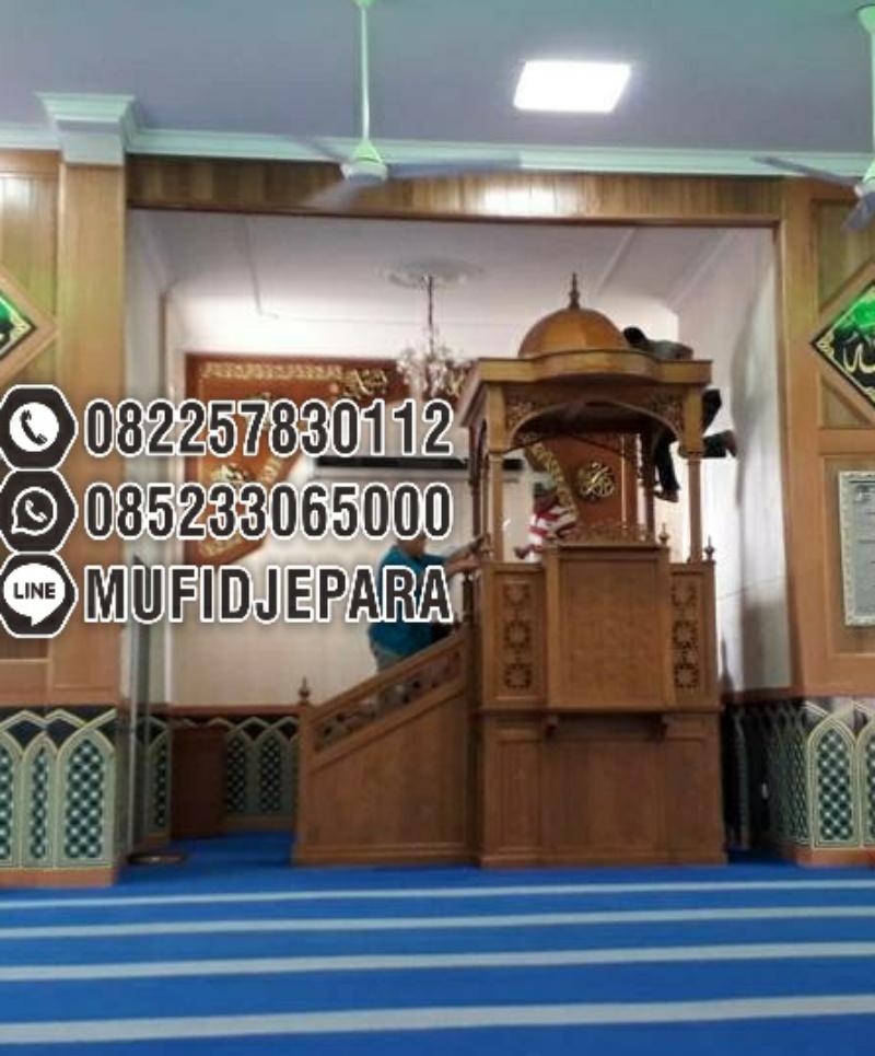 Mimbar Masjid Ornamen GRC Masjid Besar Tulungagung