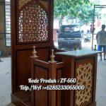 Mimbar Kayu Ornamen Ukiran Masjid Wilayah Banyumas