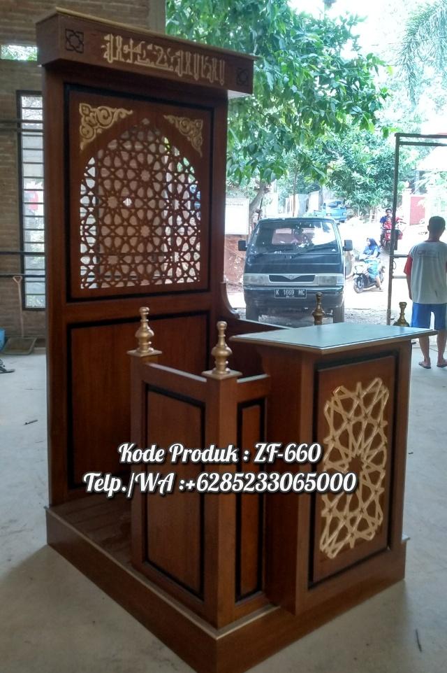 Mimbar Podium Ornamen Arabic Masjid Daerah Karawang