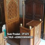 Mimbar Podium Ornamen CNC Masjid Daerah Kajen