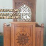 Mimbar Sunnah Ornamen CNC Masjid Agung Malang