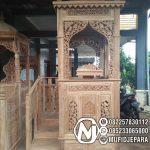 Podium Mimbar Ornamen Ukiran Masjid Kota Tangerang