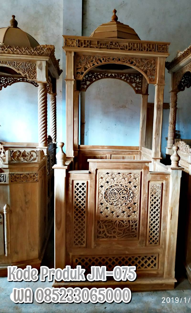 Mimbar Podium Ornamen GRC Masjid Besar Sumenep