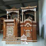 Podium Mimbar Ornamen Ukiran Masjid Kota Balikpapan
