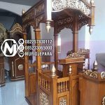 Mimbar Podium Ornamen Ukiran Masjid Agung Pulang Pisau