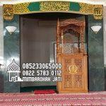 Mimbar Kayu Ornamen GRC Masjid Besar Nganjuk