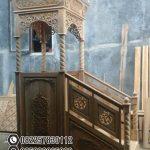 Mimbar Kayu Ornamen CNC Masjid Wilayah Kotawaringin Timur
