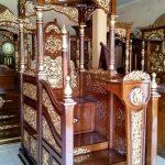 Mimbar Podium Ornamen Ukiran Masjid Besar Rangkasbitung
