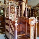 Mimbar Podium Ornamen Ukiran Masjid Wilayah Lumajang