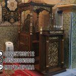 Mimbar Podium Ornamen Marocco Masjid Agung Hulu Sungai Utara