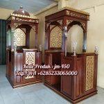 Mimbar Jati Ornamen CNC Masjid Daerah Temanggung