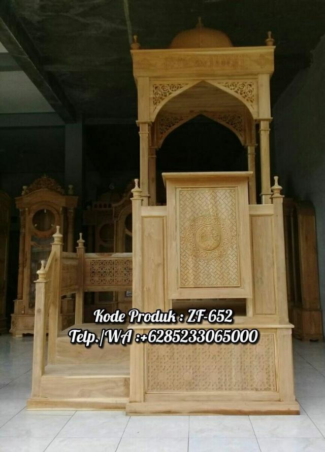 Mimbar Masjid Ornamen Arabic Masjid Daerah Tulungagung