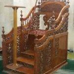 Mimbar Podium Ornamen GRC Masjid Wilayah Kutai Kartanegara