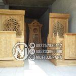 Mimbar Minimalis Ornamen CNC Masjid Besar Kajen