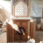 Mimbar Jepara Ornamen Marocco Masjid Besar Nganjuk