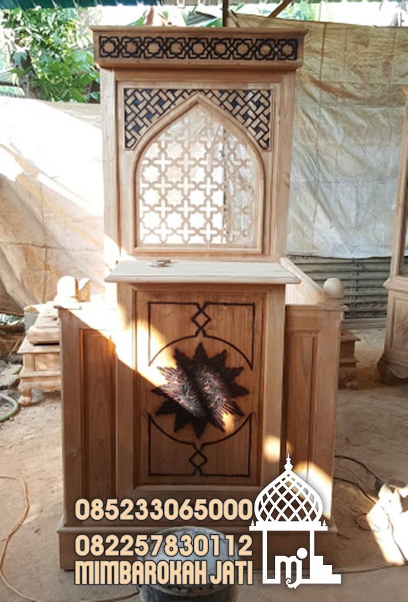Mimbar Jepara Ornamen Marocco Masjid Kota Mataram