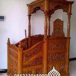 Mimbar Kayu Ornamen CNC Masjid Agung Kepulauan Seribu
