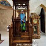 Mimbar Podium Ornamen Ukiran Masjid Agung Muara Teweh