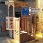 Mimbar Kayu Ornamen CNC Masjid Wilayah Singaparna