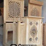 Mimbar Kayu Ornamen Arabic Masjid Wilayah Pulang Pisau