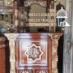 Mimbar Podium Ornamen GRC Masjid Wilayah Kepulauan Seribu