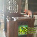 Mimbar Minimalis Ornamen Marocco Masjid Daerah Hulu Sungai Selatan