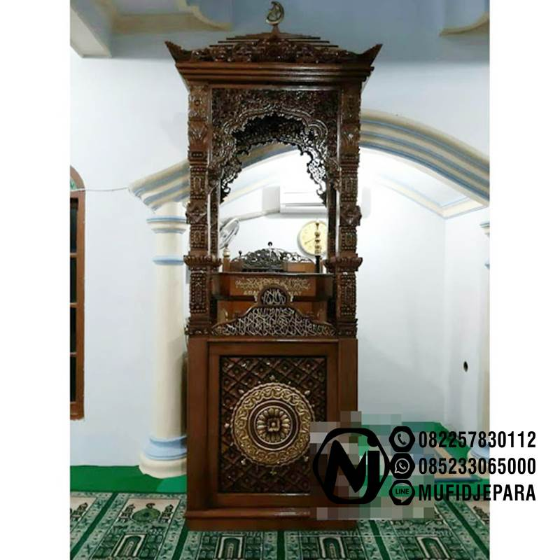 Podium Mimbar Ornamen GRC Masjid Besar Cibinong