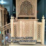 Mimbar Jati Ornamen CNC Masjid Daerah Pamekasan