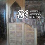 Mimbar Jati Ornamen CNC Masjid Wilayah Pemangkat